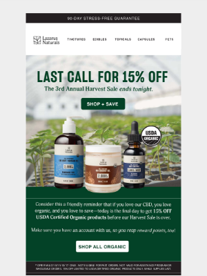 Lazarus Naturals - Save 15% while you can ⌛️