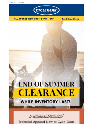 Cycle Gear - Summer CLEARANCE up to 60% off
