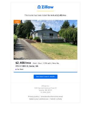 New Listing: 3733 S 188th St, Seatac, WA 98188. Your 'Seatac WA' Search.