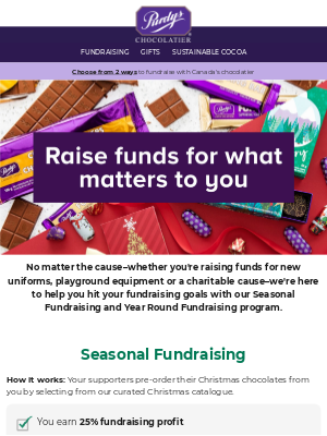 Purdys Chocolatier - Fundraise with the best chocolate in Canada 🍫