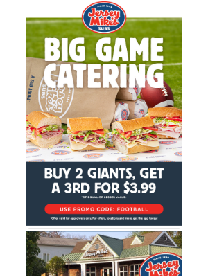 Jersey Mikes - Big Game Catering