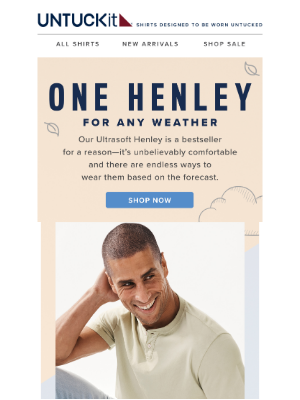 UNTUCKit - One Henley For Any Weather