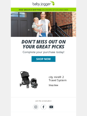 Baby Jogger - We're happy you stopped by...