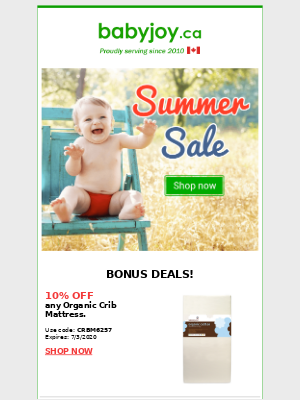 ❤️ HAPPY CANADA DAY ❤️ Find Great Deals at Canada's #1 Organic Baby Store!