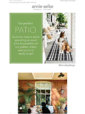 Annie Selke - How to Build the Perfect Patio ⇻ ⇻