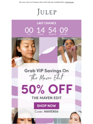 Julep - Click, quick! 👉🏻 There's an offer expiring inside...