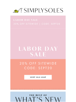 Simply Soles - The Labor Day Sale Event