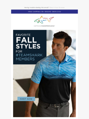 Greg Norman Collection - Fall favorites and best sellers