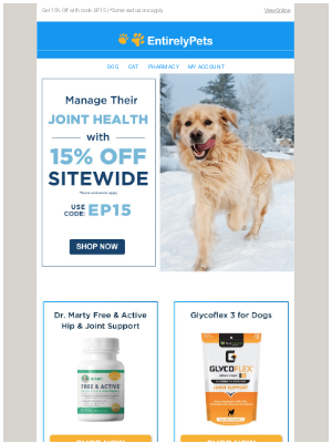 EntirelyPets - 🐕❄️ Manage Your Pet's Joint Health During The Cold Season