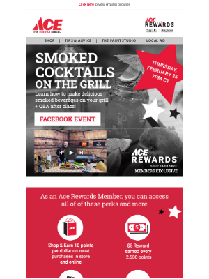 Ace Hardware - Live Event - Smoked Cocktails on the Grill