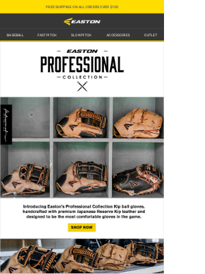 Easton Slowpitch - AVAILABLE NOW: Easton Professional Collection Kip Ball Gloves