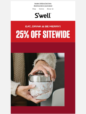 S'well Bottle - Best Sale of the Year! 25% OFF