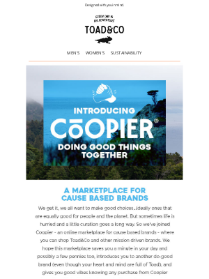 Toad&Co - Meet our latest cause driven collaboration