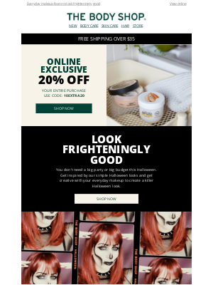 The Body Shop - Reminder: 20% Off