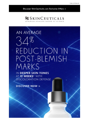 SkinCeuticals - 34% Reduction In Post-Blemish Marks