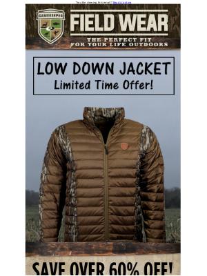 Mossy Oak Gamekeeper Low Down Jacket