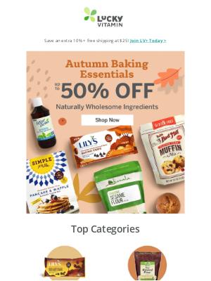 LuckyVitamin - Save Up to 50% Off Baking Essentials