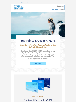 Wyndham Hotel Group - Get 35% More Points to Travel This Summer