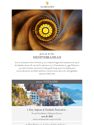 Seabourn Cruise Line - Experience The Magic Of The Mediterranean
