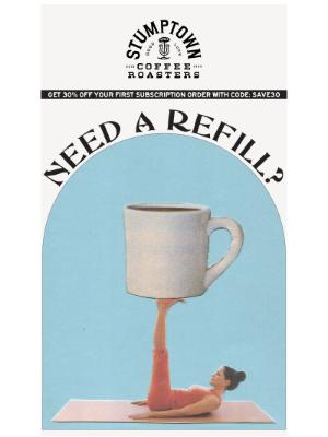 Stumptown Coffee Roasters - Who needs a refill?☕