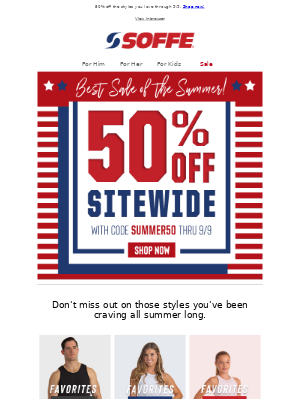 Soffe LLC. - The Best Sale of the Summer