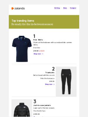 Zalando (UK) - Top trending items right now
