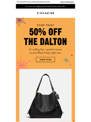 Coach - 50% Off Bestsellers (& 30% Off So Much More)