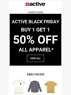 Active Ride Shop - Black Friday Early Access