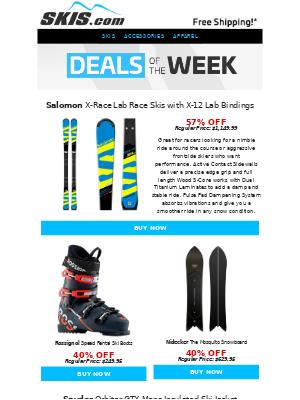Skis - Product Spotlight: $650 OFF Salomon X-Race Lab Race Skis w/ Bindings || Deals of the Week
