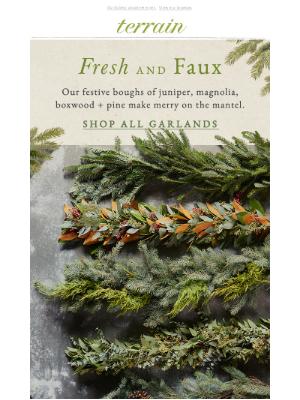 Terrain - Over 20 fresh + faux garlands!
