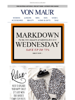 Von Maur - Happy Markdown Wednesday!