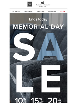 American Signature - ⏳ Final hours: up to 20% off ends today!