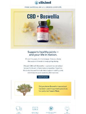 Elixinol - CBD + Boswellia: better together