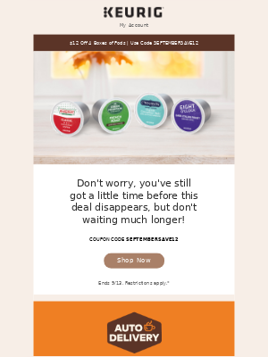 Keurig - Fall into Savings - $12 Off 4 Boxes of Pods Ends Tonight