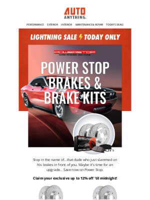 AutoAnything - ⚡ Shop Now: up to 12% off Brakes by Power Stop! ⚡