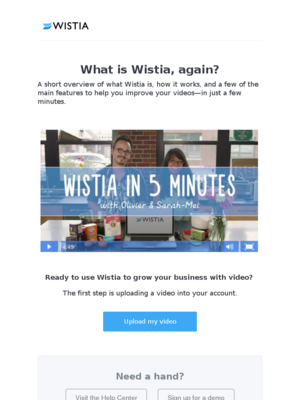 What is Wistia, again?
