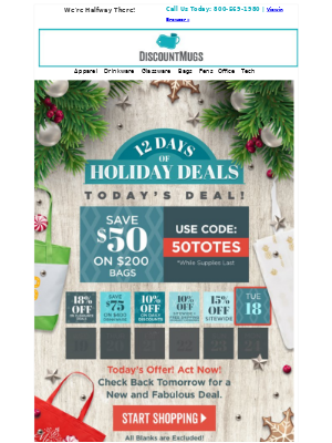 DiscountMugs email marketing strategy - MailCharts