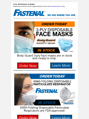 Fastenal - Mask Up To Prevent The Spread