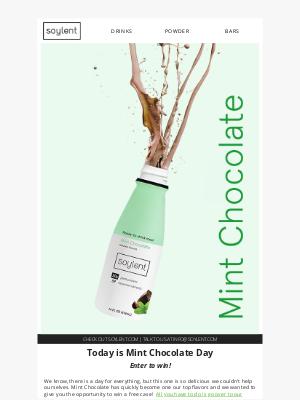 Soylent - Happy Mint Chocolate Day!