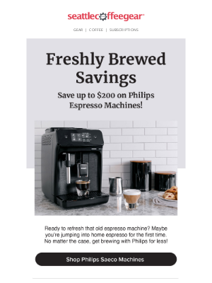 Seattle Coffee Gear - Catch Great Savings on Philips☕