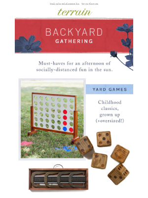 Our 4 essentials for backyard entertaining.