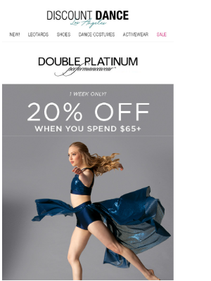 Discount Dance - Save 20% on Stage-Ready Looks!