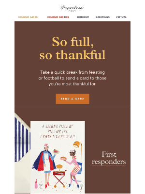 Paperless Post - 10 people to be thankful for this year