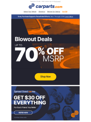 CarParts - Blowout Deals Up to 70% Off MSRP