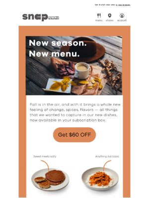 Snap Kitchen - New season. New meals.