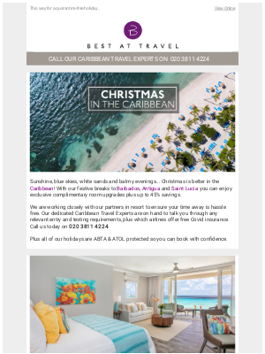 Best At Travel (UK) - 🎅 Christmas in the Caribbean from £1,999pp ✈️🏖️🍹