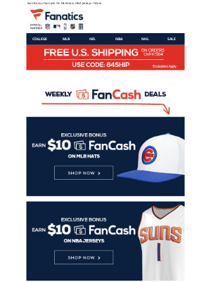 Mlbshop - Just Added - New FanCash Weekly Deals!