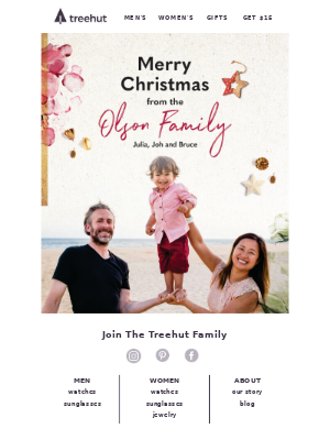 🎄Merry Christmas From Treehut Founders - Olson Family~