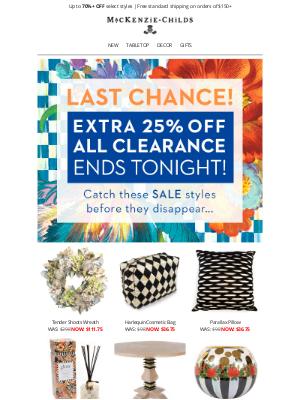 MacKenzie Childs LLC - Last chance! Extra 25% off sale