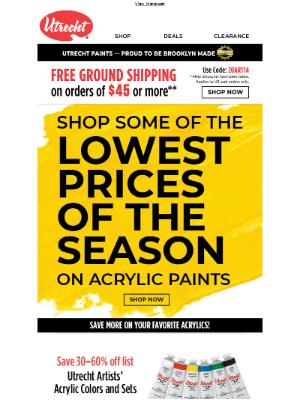 Savings on acrylic paints you LOVE